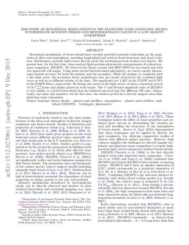 Draft version December 10, 2015 Preprint typeset using LATEX style emulateapj v. 5/2/11 DISCOVERY OF ROTATIONAL MODULATION...