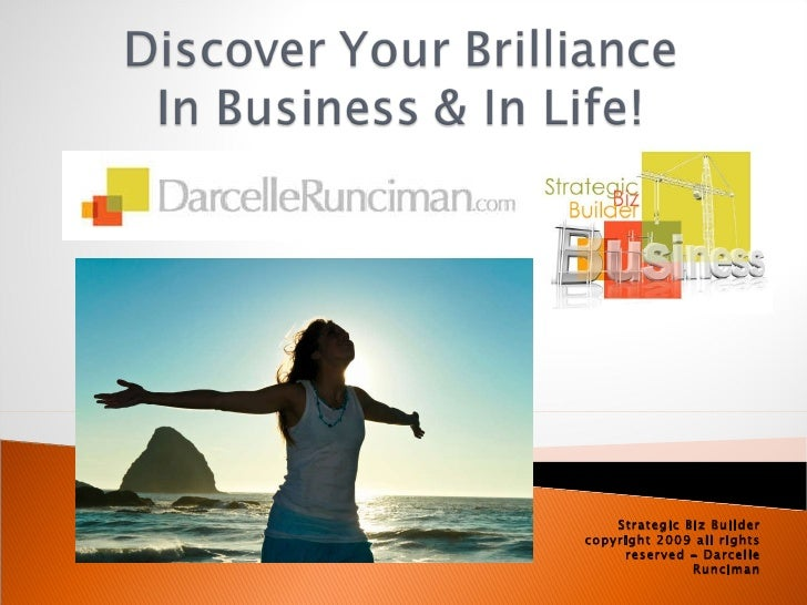 Strategic Biz Builder copyright 2009 all rights reserved - Darcelle Runciman