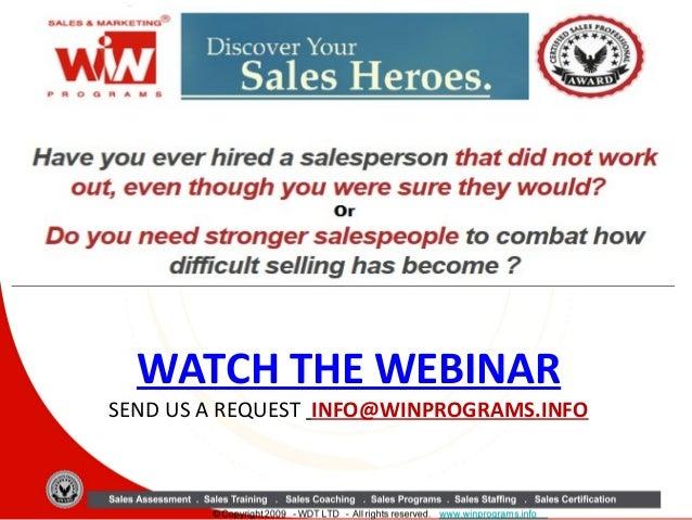 WATCH THE WEBINAR  SEND US A REQUEST INFO@WINPROGRAMS.INFO