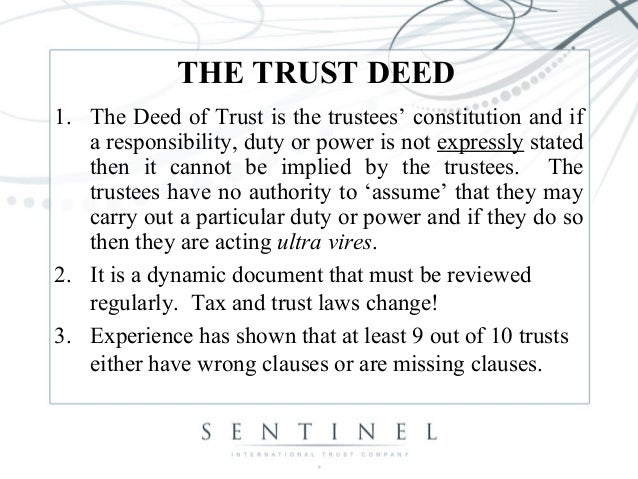 Sample Deed Of Trust Form John Sample Trust Demo Printable Deed Of