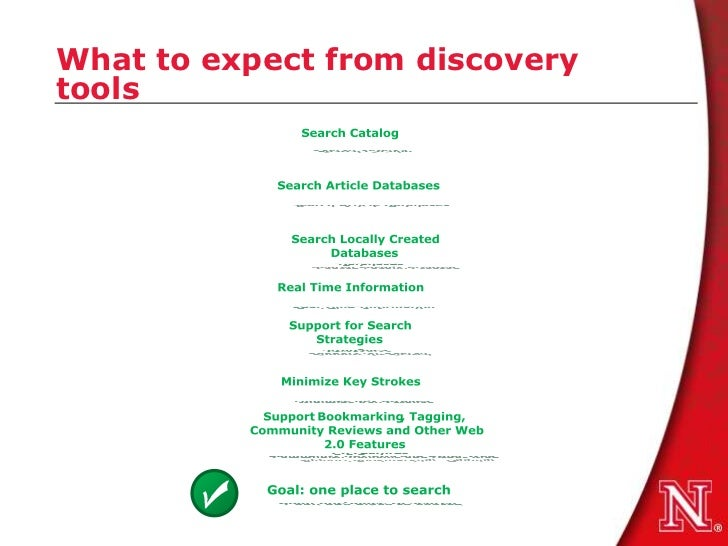 What to expect from discoverytools