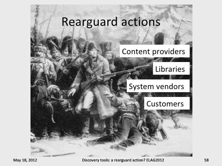 Rearguard actions                                       Content providers                                                 ...