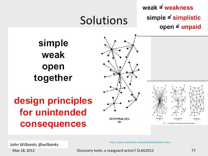 Solutions                                             http://www.slideshare.net/wilbanks/wilbanks-nfaisJohn Wilbanks @wilb...