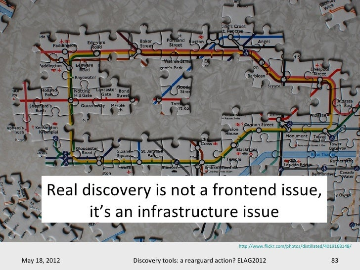 Real discovery is not a frontend issue,             it's an infrastructure issue                                          ...