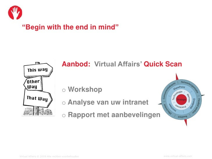 """""""Begin with the end in mind""""                                       Aanbod: Virtual Affairs' Quick Scan                    ..."""