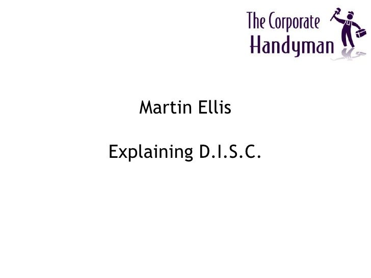 Martin EllisExplaining D.I.S.C.