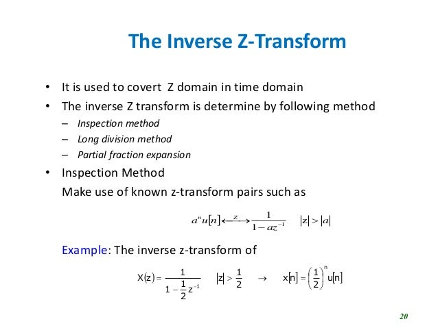 Limitations of z transform
