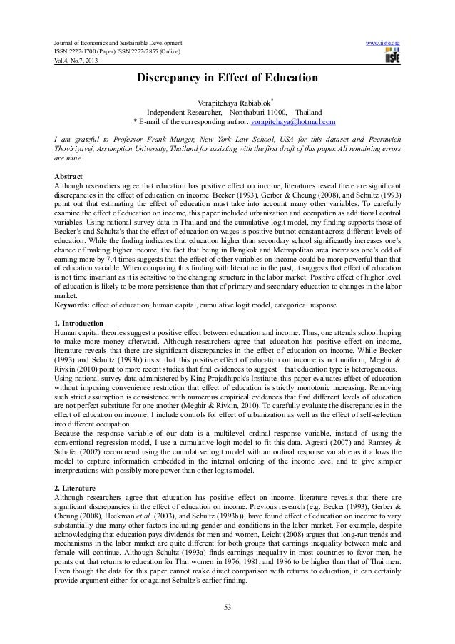 Journal of Economics and Sustainable Development www.iiste.orgISSN 2222-1700 (Paper) ISSN 2222-2855 (Online)Vol.4, No.7, 2...