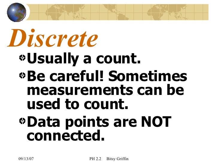 how to explain discrete data