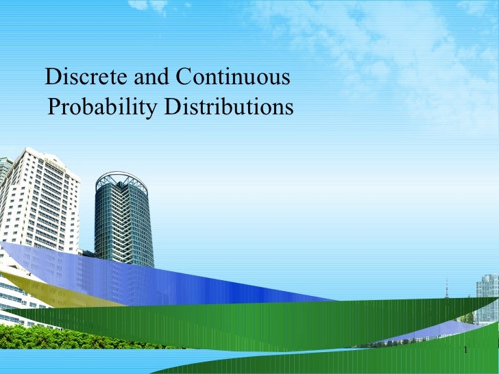 discrete and continuous distributions pdf