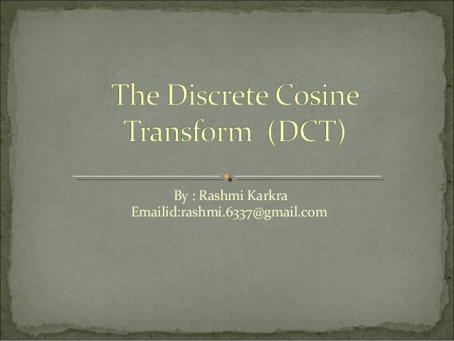 discrete cosine transform thesis