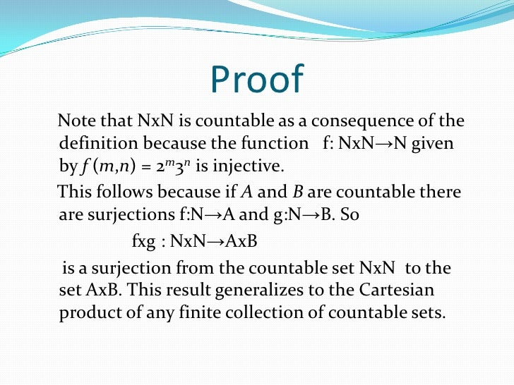 The Cartesian Product Of The Natural Numbers Is Countable