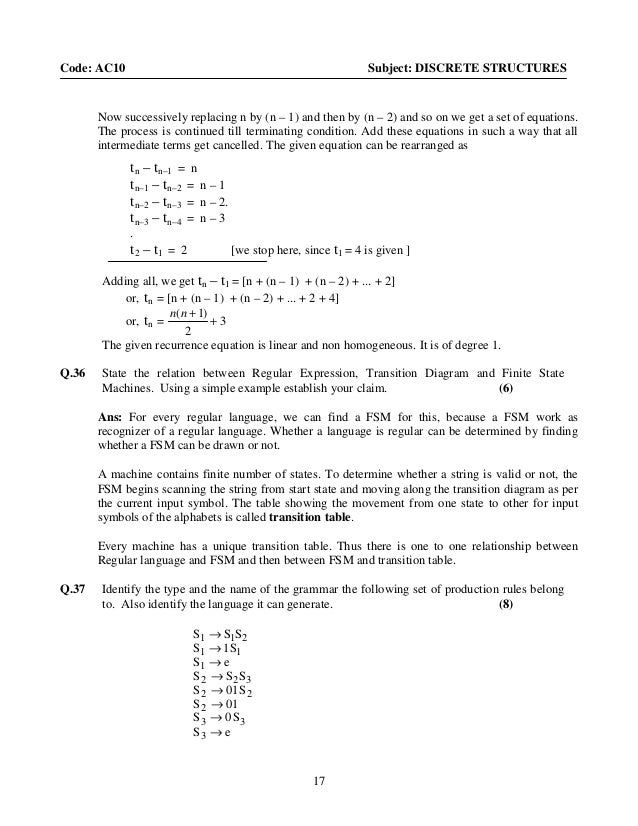 Discrete Maths Questions