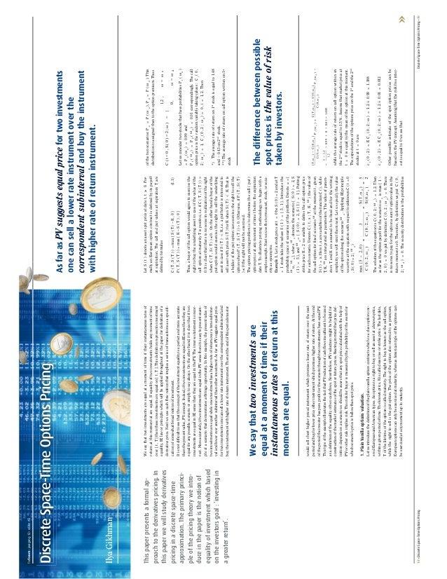 fsrforum • jaargang 12 • editie #5Discrete Space-Time Options Pricing                                                     ...