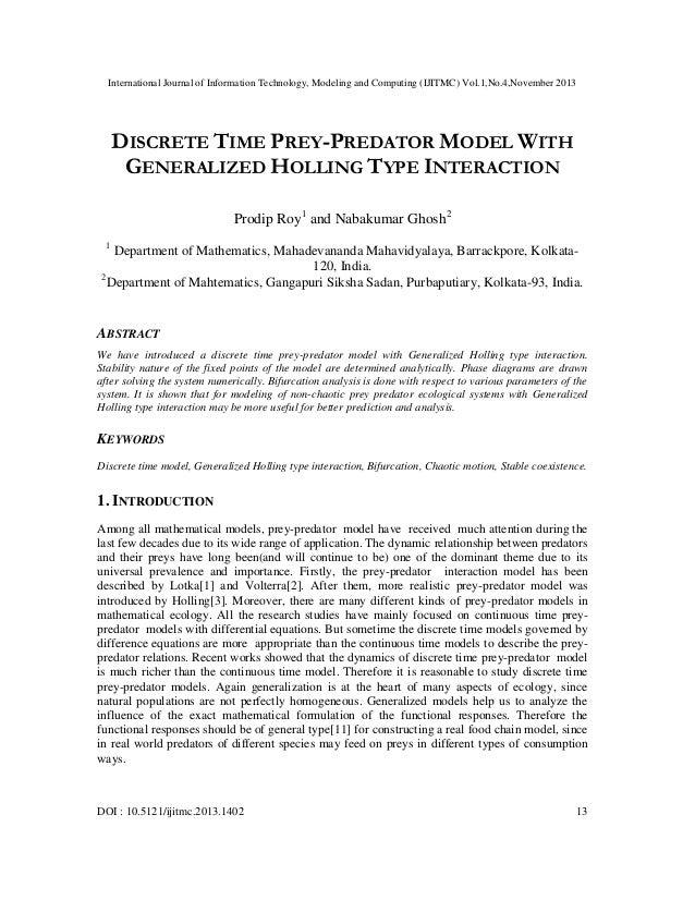 International Journal of Information Technology, Modeling and Computing (IJITMC) Vol.1,No.4,November 2013  DISCRETE TIME P...