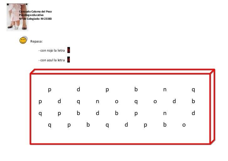 Discriminación visual b d Slide 2