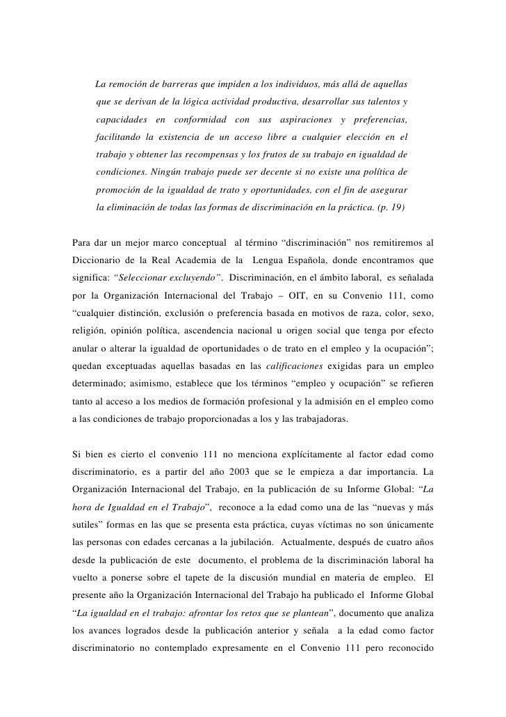 DISCRIMINACIÓN LABORAL POR EDAD Slide 3