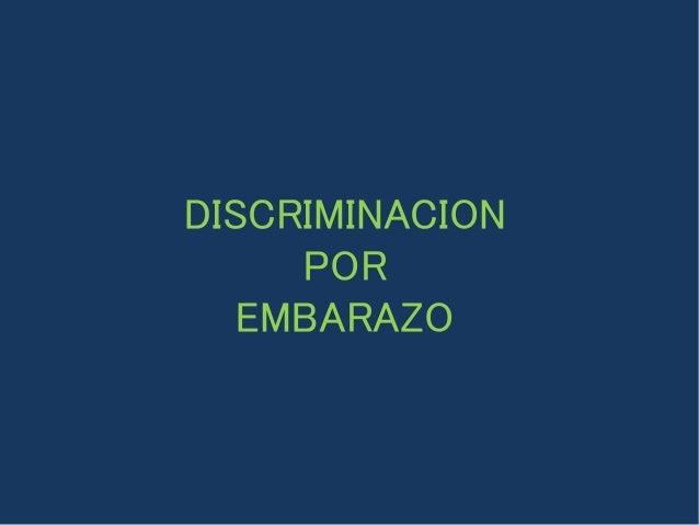 DISCRIMINACION POR EMBARAZO