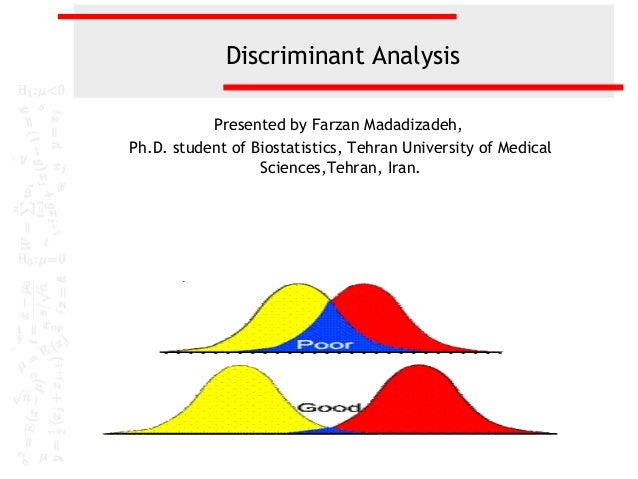 discriminant analysis Ab dufour 1 fisher's iris dataset the data were collected by anderson [1] and used by fisher [2] to formulate the linear discriminant analysis (lda or da.