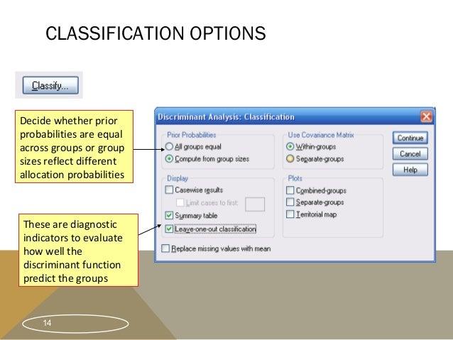 Discriminant analysis group no. 4