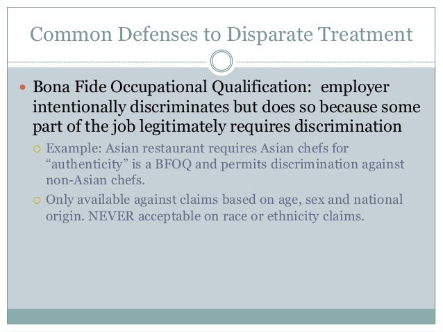employment discrimination under texas and federal law -- overview