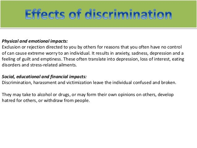 Discrimination and Children Essay Sample