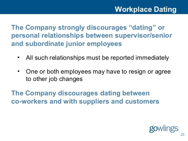 Manager dating employee laws