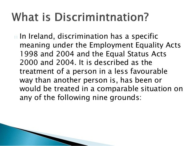 discrimination what does it mean