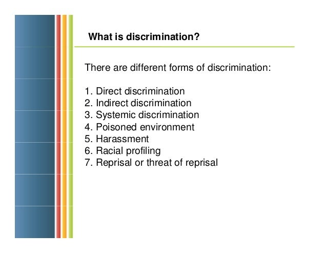Discrimination And Its Different Forms