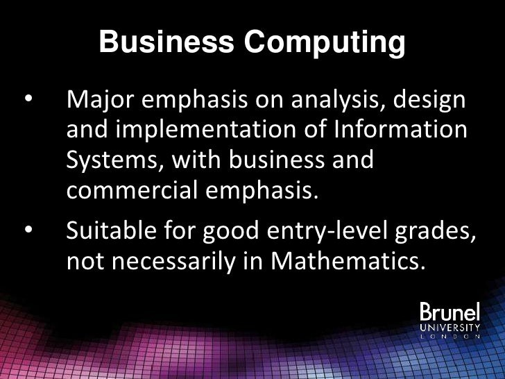 Computing and information systems