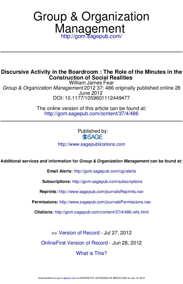 http://gom.sagepub.com/ Management Group & Organization http://gom.sagepub.com/content/37/4/486 The online version of this...