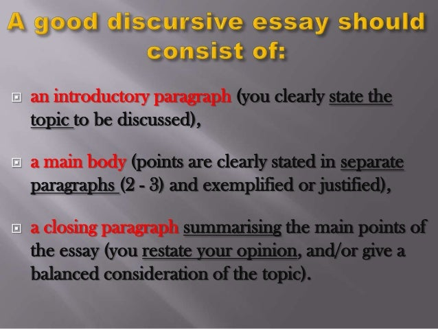 Good discursive essay questions