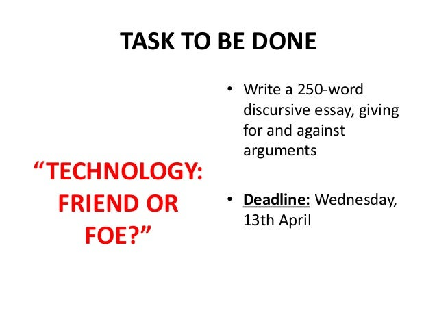 Internet friend or foe essay