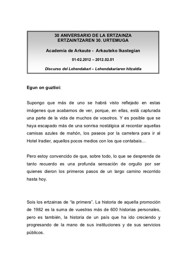 30 ANIVERSARIO DE LA ERTZAINZA                  ERTZAINTZAREN 30. URTEMUGA            Academia de Arkaute - Arkauteko Ikas...