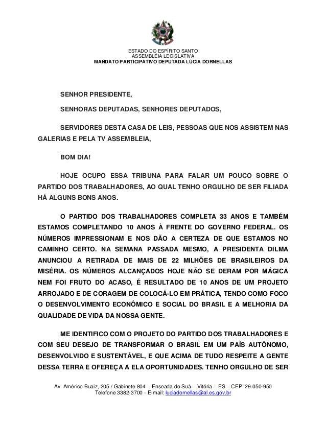 ESTADO DO ESPÍRITO SANTO                               ASSEMBLÉIA LEGISLATIVA                   MANDATO PARTICIPATIVO DEPU...