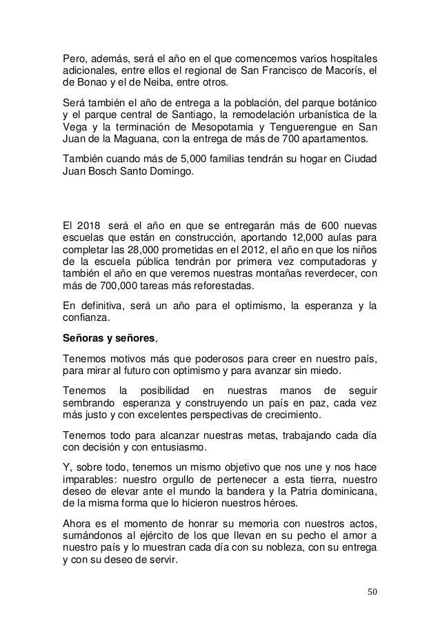 Discurso de Danilo Medina este 27 de febrero de 2018