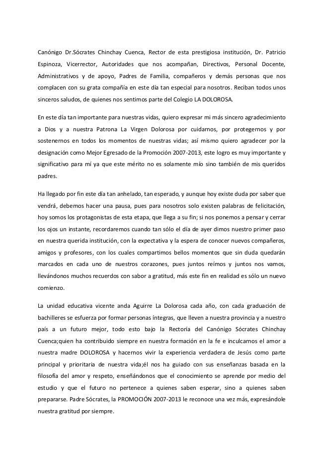 Canónigo Dr.Sócrates Chinchay Cuenca, Rector de esta prestigiosa institución, Dr. Patricio Espinoza, Vicerrector, Autorida...