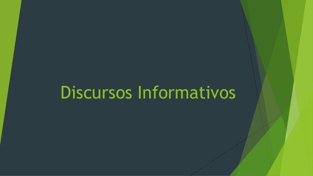 Discursos Informativos