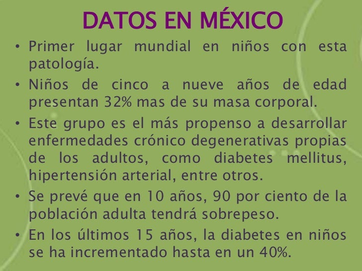 Obesidad infantil en México
