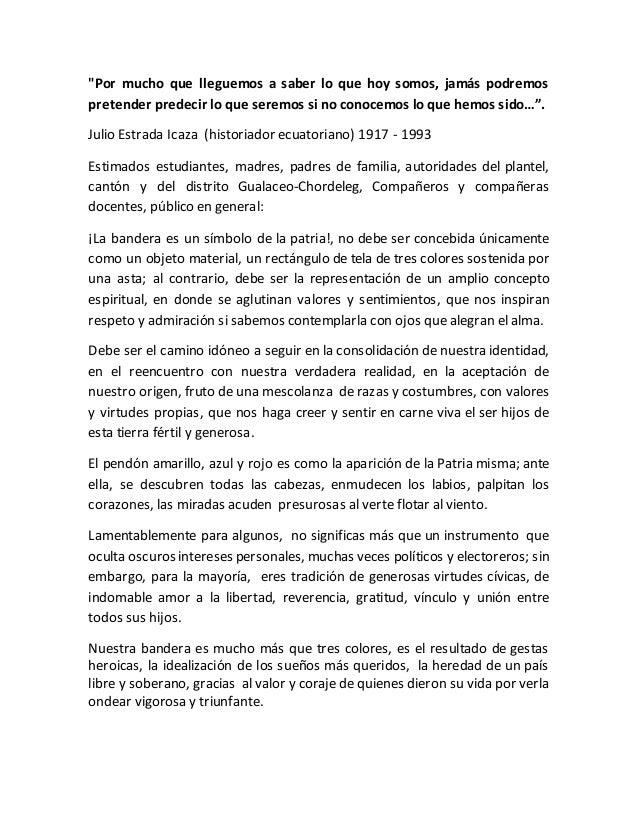 Discurso Por El Día De La Bandera Ecuatoriana