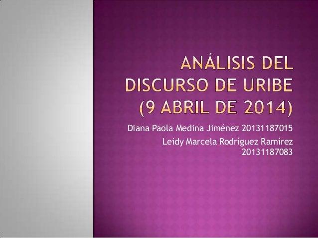 Diana Paola Medina Jiménez 20131187015 Leidy Marcela Rodríguez Ramírez 20131187083