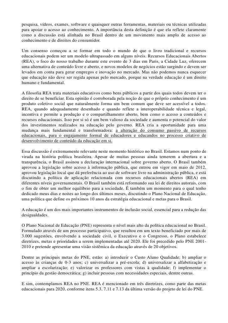 Discurso Angelo Vanhonhi - Congresso Mundial REA Slide 2