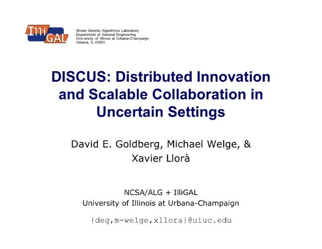 DISCUS: Distributed Innovation and Scalable Collaboration in Uncertain Settings