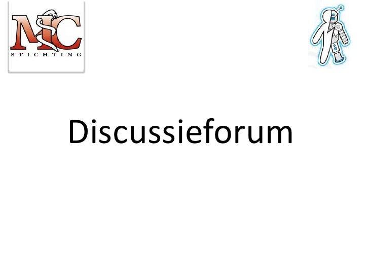 Discussieforum<br />