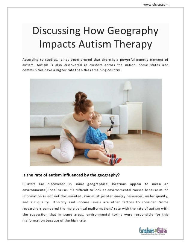 How Geography Influences Autism >> Discussing How Geography Impacts Autism Therapy Cfcico