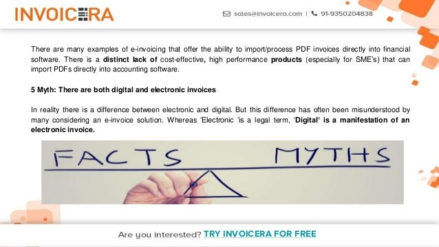 discussion 5 facts and myths about pdf invoices