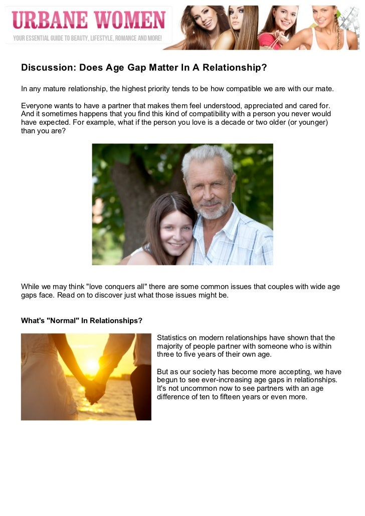 does age matter in a love relationship