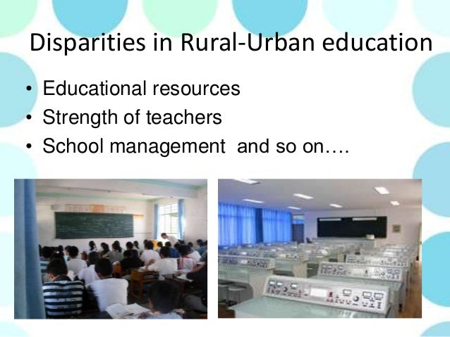 "rural urban desparities Introduction significant health disparities exist between rural and urban women various definitions of ""rural"" are used to study and report population data, and to determine eligibility and reimbursement levels for federal and state programs."