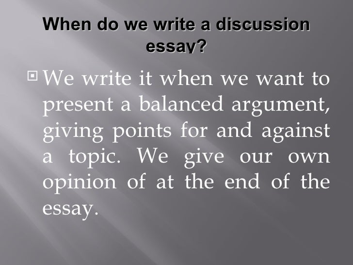 Discussion essay samples