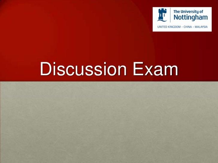 Discussion Exam